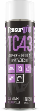 TENSORGRIP TC43 SUPERWEB INFUSION SPRAY ADH CLEAR 500 ML